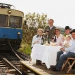 Bahn fahren und Wein verkosten, das verträgt sich