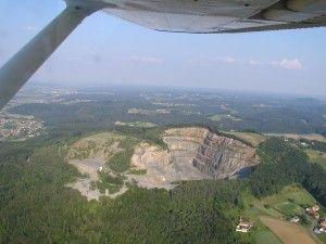 Luftaufnahme erloschener Vulkan