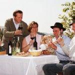Weinverkostung beim Leitgeb, Hutter oder Huber