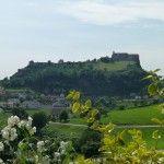 Blick auf die Riegersburg vom Weinhof Wippel
