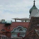 Blick zur Dachterrasse vom Palais Herberstein