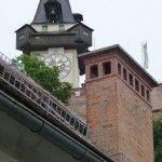 Blick zum Uhrturm vom Palais Herberstein