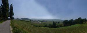Ausblick von Kapelski Vrh nach Süden