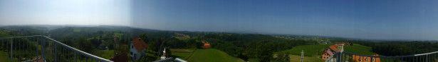 Blick vom Aussichtsturm in den Windischen Bühel