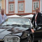 Velker Hans in Jaguar XJS convertible