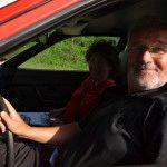 Rudi und Doris Leitner im Porsche 924