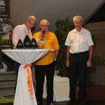 Moderator und ORF-Redakteur Michael Pimiskern mit Ralley-Legende Harald Neger und Organisator Helmut Strohmeier